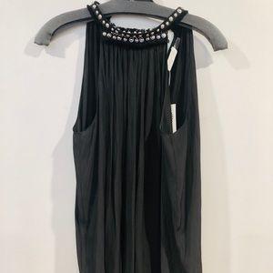 NWT Ramy Brook Cara black studded top
